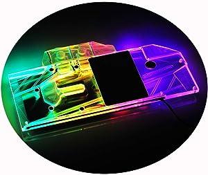 Bykski GPU Copper Waterblock G1/4 Full Cover PC Water Cooling Watercooling Block Liquid Cooler 5V RGB LED for Graphics Card ZOTAC GeForce RTX2080 RTX2070 8GD6 Plus OC