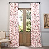 HPD HALF PRICE DRAPES Half Price Drapes PRCT-D11-84 Sweethearts Printed Cotton Curtain, 50″ x 84″, Pink Review