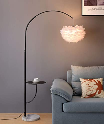 Surpars House White Feather Floor Lamp