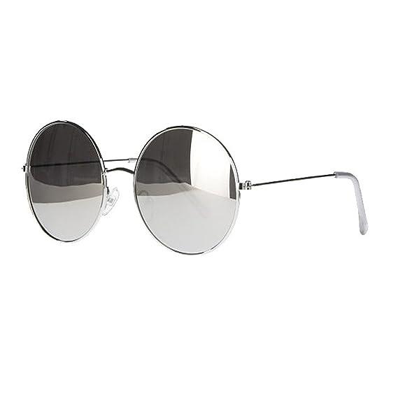 dc6febd5e31 Younky Unisex UV Protected Round Stylish Silver Mercury Sunglasses For Men  Women Boys   Girls (RDSM