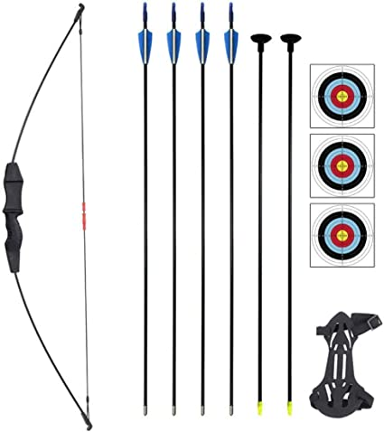YOUTH KIDS BOW SET CAMO RECURVE BOW /& 5X ARROWS SET 20LB ARCHERY FAMILY