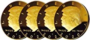 4 Pcs 2020 Trump Coin Keep America Great Challenge Coin - American Eagle Commemorative Coin 41mm Stunning Proof Coin Re-Elec