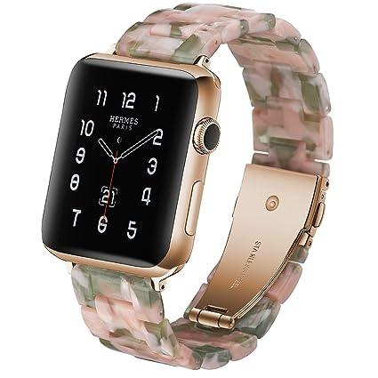 Amazon.com: Caunedy - Correa de reloj de resina para Apple ...