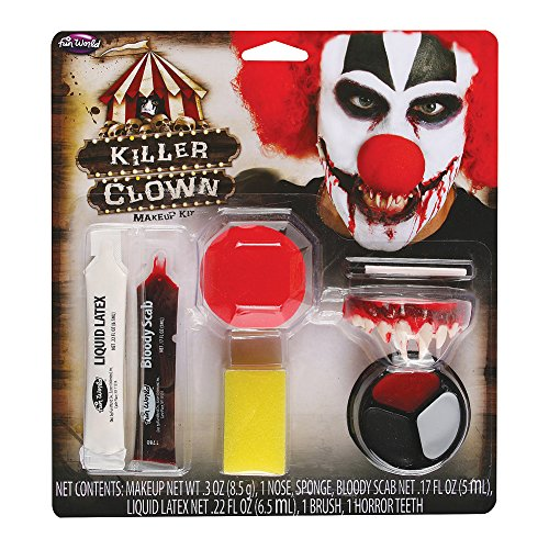[Blue Banana Killer Clown Face Paint Kit] (Scary Face Paint Halloween Costumes)