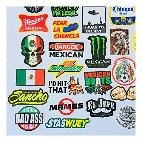 MEXICAN CHINGON Hard Hat Stickers 40 MEXICO HardHat Sticker Pegatinas cascos by Unknown (Image #2)