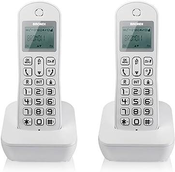 Brondi Teléfono DECT DUO MARIOT blanco: Amazon.es: Electrónica