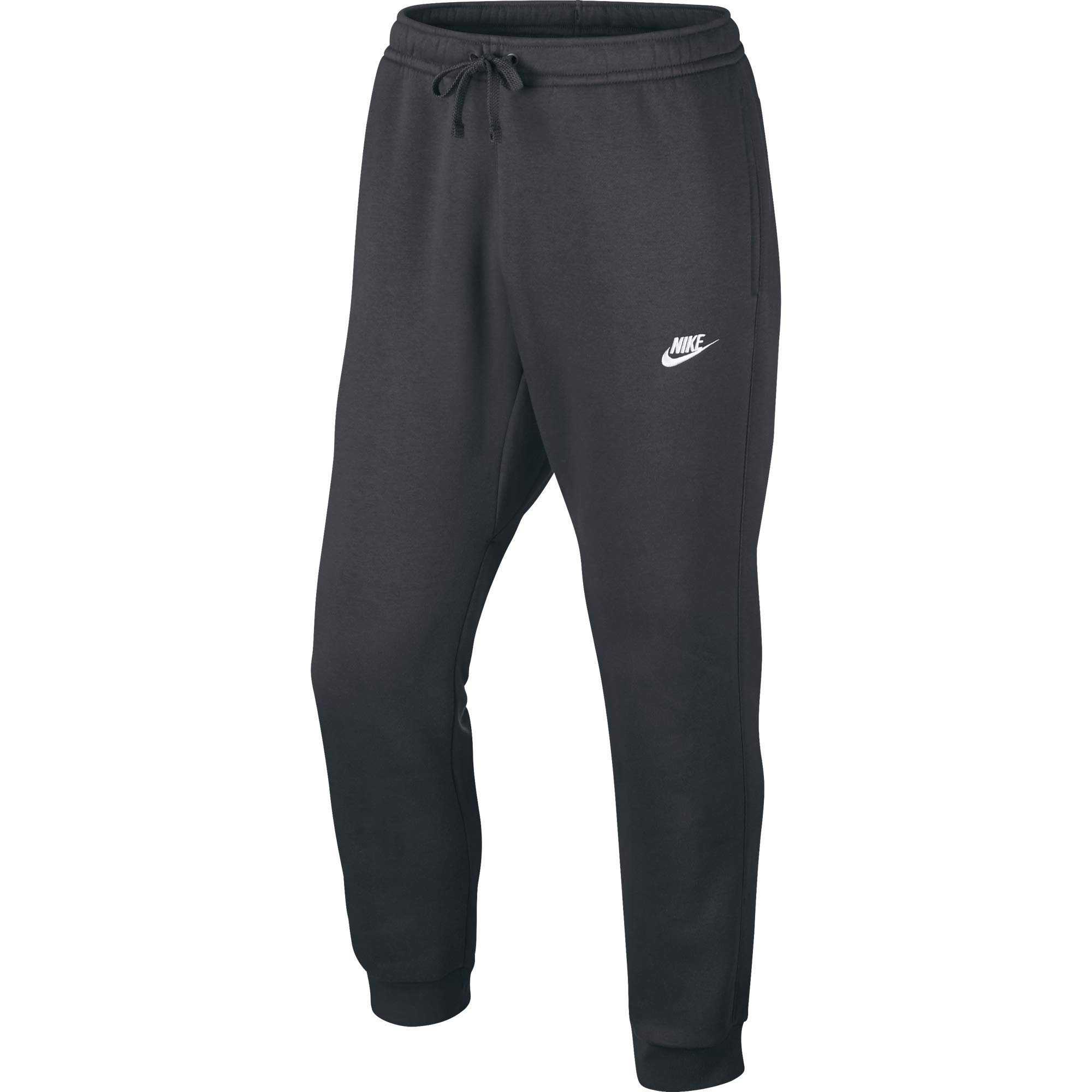 Men's Nike Sportswear Club Jogger Sweatpant, Fleece Joggers for Men with Pockets, Charcoal Heather/White, XS by Nike