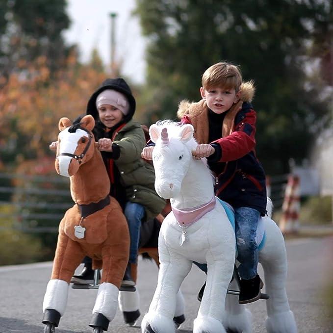 UFREE Caballo mediano - Gran caballo de juguete mecánico para avanzar y moverse arriba y abajo de 91,4 cm para niños de 3 a 10 años: Amazon.es: Juguetes y ...