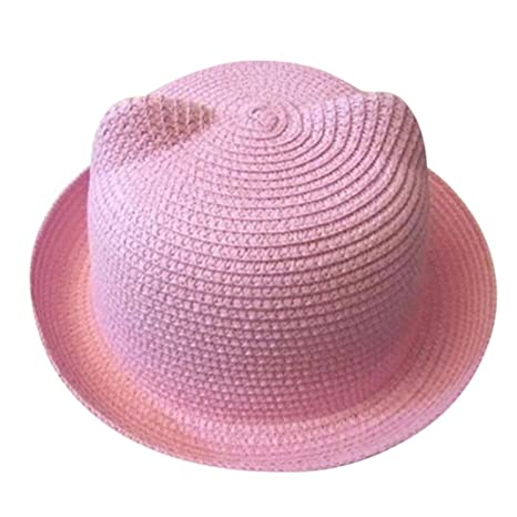 ZARLLE Sombrero Del Bebe Cap Los NiñOs Sombrero De Paja Transpirable Hat  Kids Hat Boy Girls 6589021867f