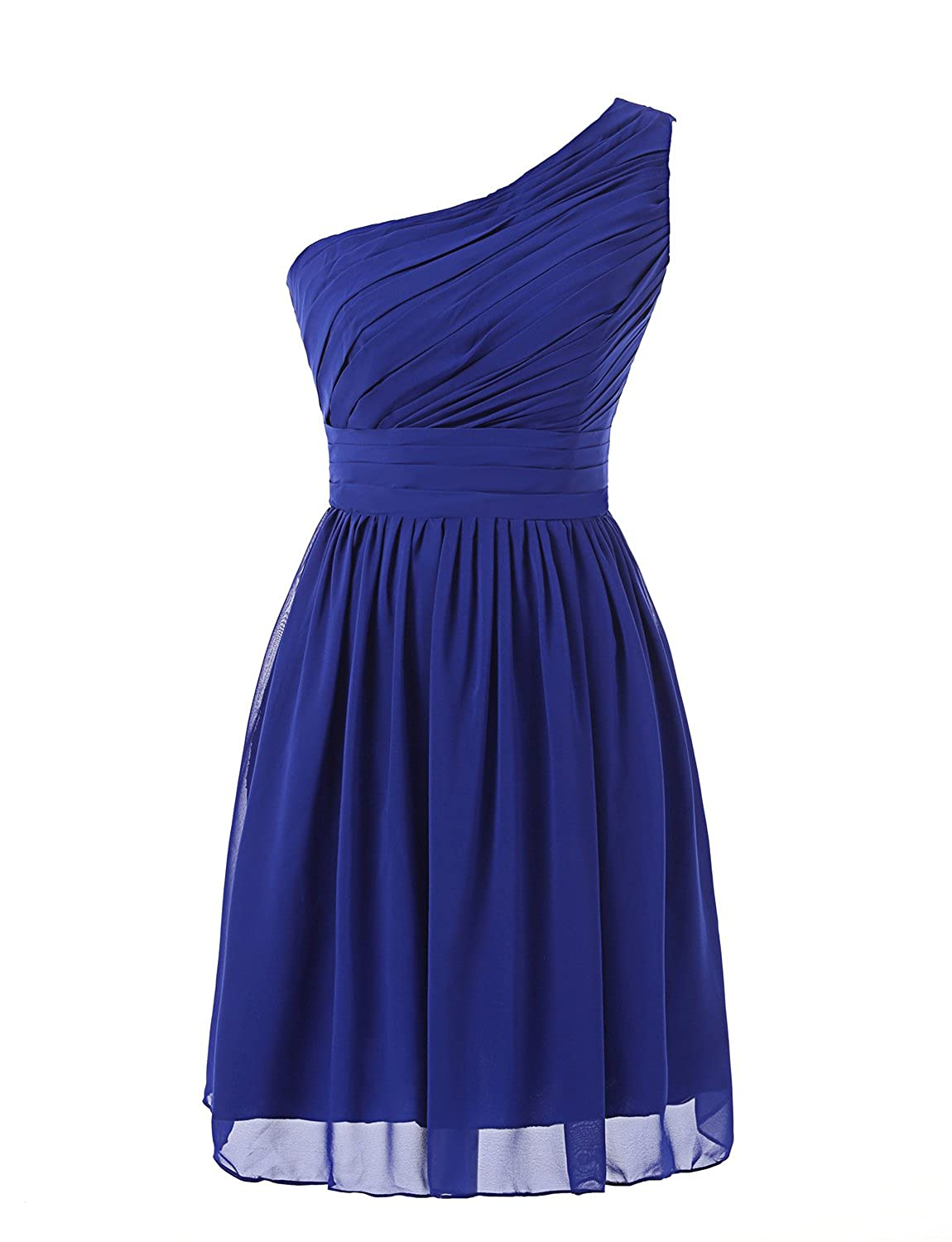 e514acaf576 Top4  Kiss Dress Women s Short Bridesmaid Dresses One Shoulder Chiffon Prom  Gowns. Wholesale Price 39.90 -  45.90 ○Fabric Comfort Soft Chiffon