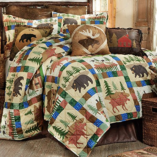 Cabin decor and bedding for Decorative bed quilts