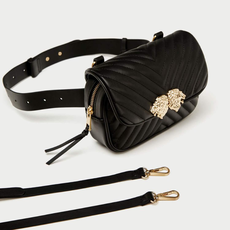 HandbagsPU Bag Multi-functional Shoulder Messenger Bag Leisure Bag,Black
