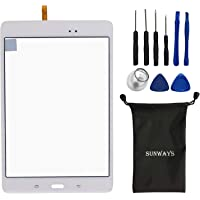 Sunways White Touch Flex Cable Screen Glass Lens Repaire Parts for Samsung Galaxy Tab A 8.0 T350 SM-T350 with Device…
