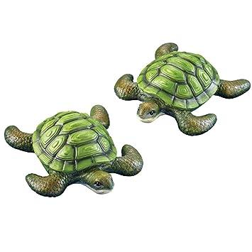 Tortuga estanque flotadores - Set de 2, por Colecciones Etc; # g344t3486g 34bg82g358506: Amazon.es: Juguetes y juegos