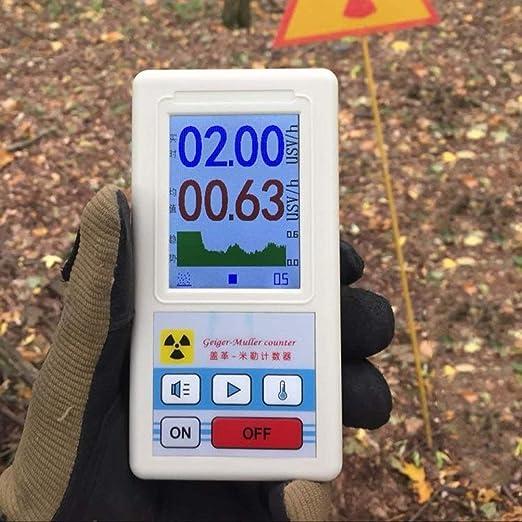 Detector de Radiación dosímetro, la radiación nuclear de Rayos Gamma Rayos X dosímetro Geiger Contadores con pantalla de visualización, ...