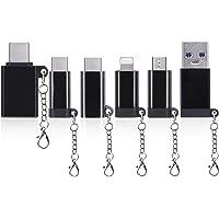 6-Pack Nousija USB Type C Adapter Kit with Micro USB Adapter, Lighting Adapter, USB 3.0 Adapter