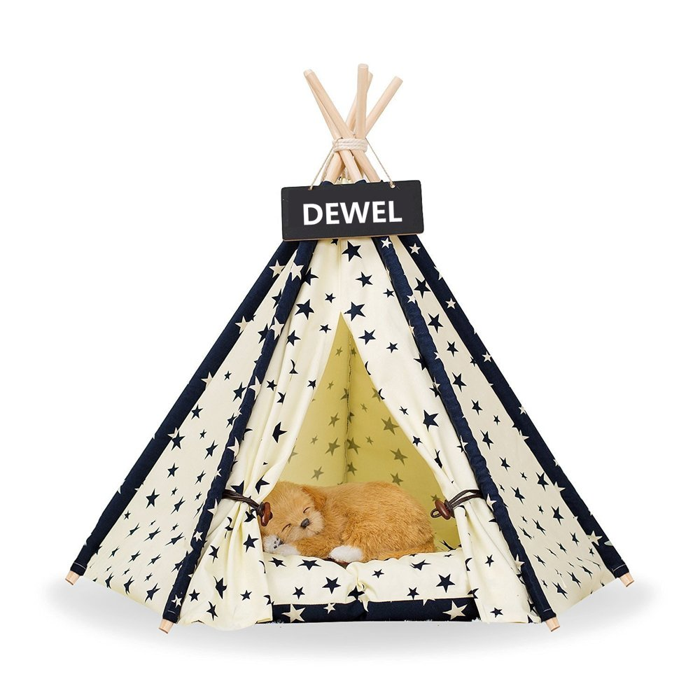 DEWEL Removable and Washable little star design Pet Kennels Pet Play House Dog Play Tent Cat/Dog Bed(S)