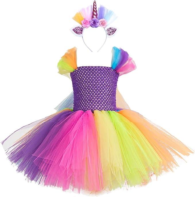 Amazon.com: Cmiko - Disfraz de unicornio de ballet para niña ...