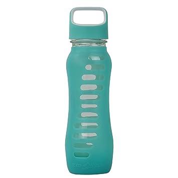 ecovessel Surf deporte botella de agua de vidrio con funda de silicona de protección y Loop