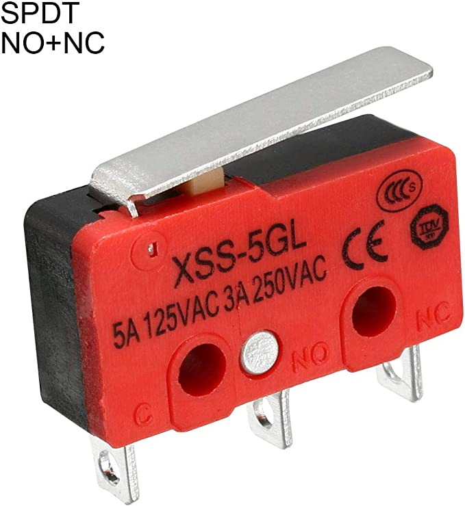 3A//250VAC DS428 SPDT NO+NC 3-Termimals Push Button Type Mini Micro Switches uxcell XURUI Authorized 3PCS 5A//125VAC