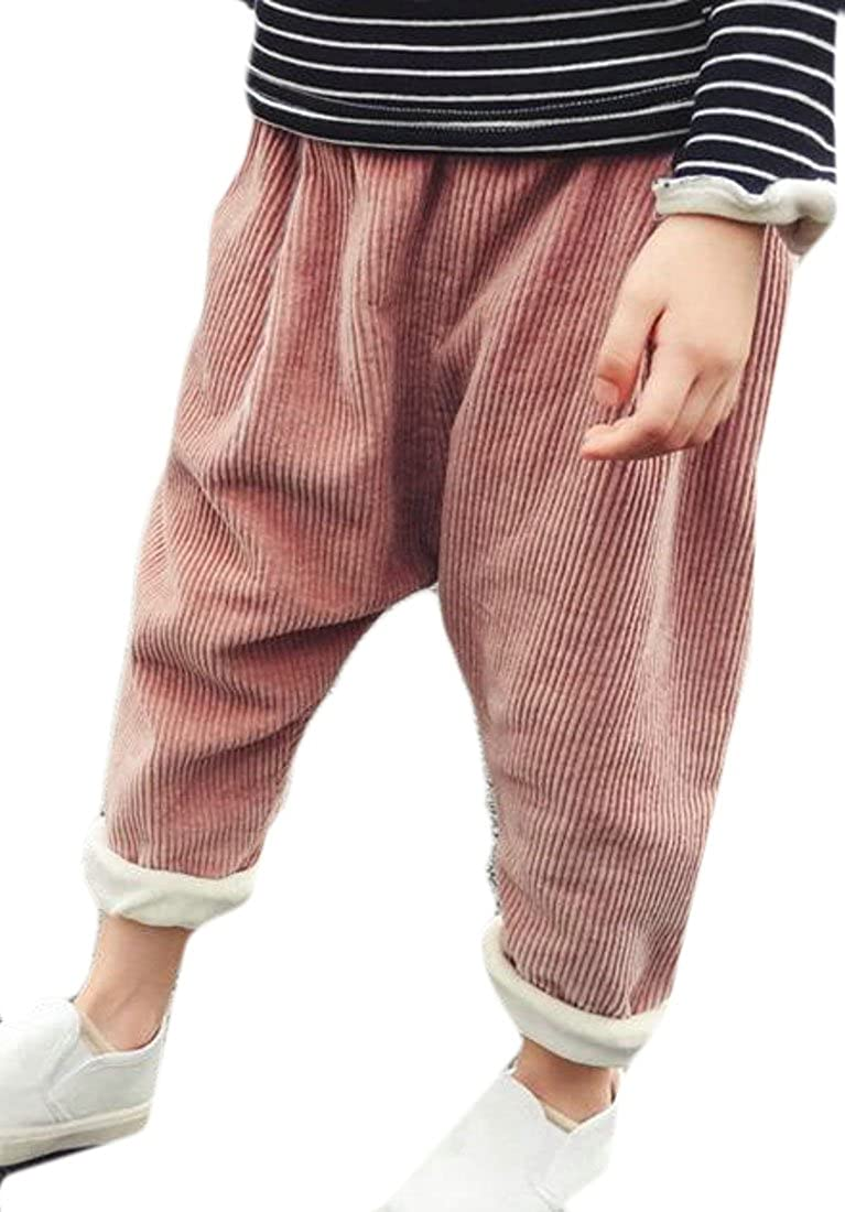 Pivaconis Boys Casual Warm Fleece Corduroy Harlan Sport Outdoor Pants