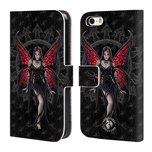 Officiel Anne Stokes Aracnafaria Gothique Étui Coque De Livre En Cuir Pour Apple iPhone 5 / 5s / SE