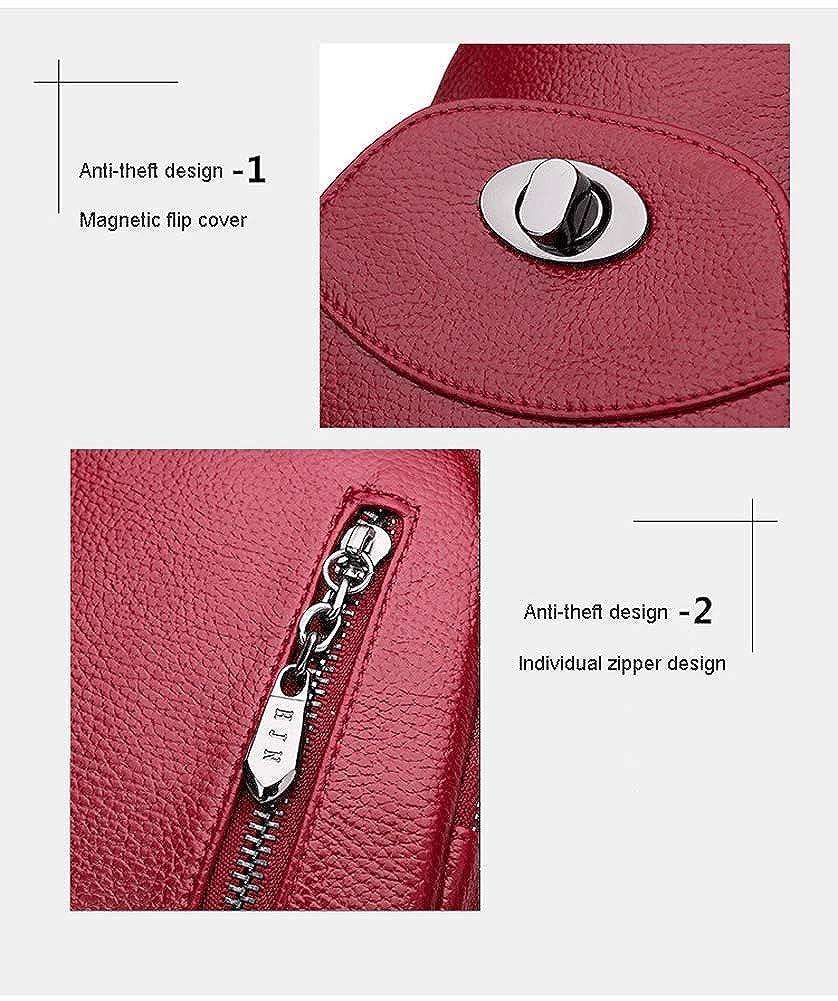 Damenrucksack Damenrucksack Damenrucksack - Fashion Schultertasche Rucksack Schultertasche Casual PU Mini Diebstahlschutz Kopfhörer Loch Rucksack Schwarz B07QGW8QZ5 Rucksackhandtaschen Zu einem erschwinglichen Preis 878c54