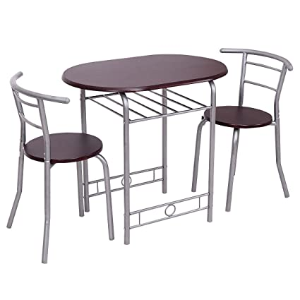 Amazoncom Giantex PCS Bistro Dining Set Table And Chairs - Restaurant table and chair sets