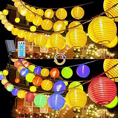 LED Lampions Lichterkette Außen Strom (Lampion Lichterkette Halloween)
