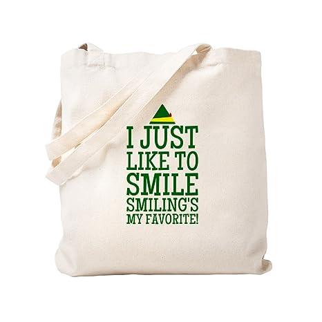 CafePress Elf Smiling - Bolsa de mano, diseño de frases ...