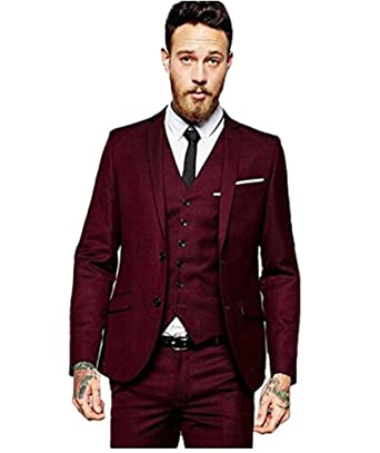 Men Wedding Tux | Sipei Men Wedding Suits Groom Formal Casual Tuxedo Two Buttons