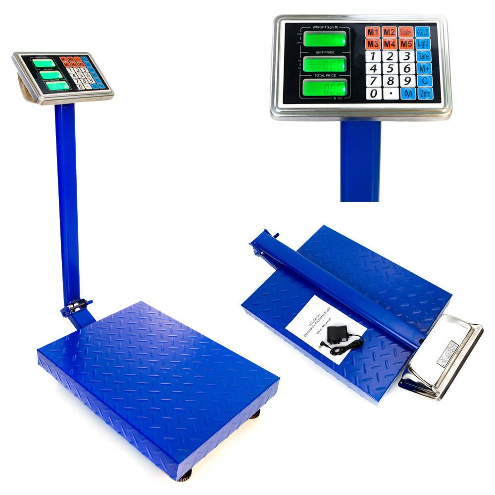 660lbs Weight Computing Digital Floor Platform Scale Postal Shipping Mailing by BUY JOY