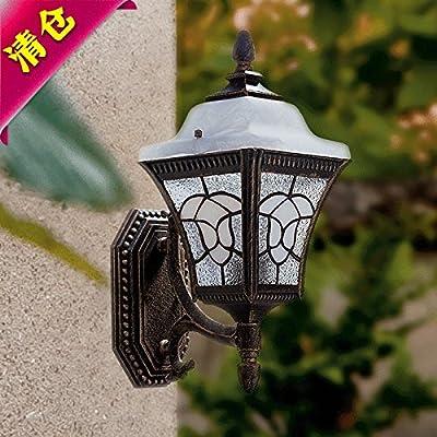 BOOTU lámpara LED y luces de pared Outdoor indoor water apliques jardín balcón Patio puerta Villa apliques de pared 0010GF-Wu,() pequeña mina de oro negro: Amazon.es: Iluminación