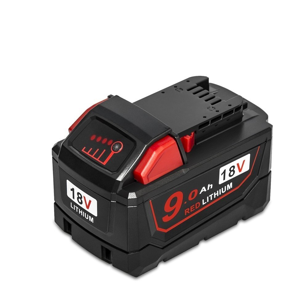 LiBatter 18V 9000mAh RED Lithium Battery Replacement for Milwaukee M18 High Demand 9.0 48-11-1890 Cordless Power Tools (M18)