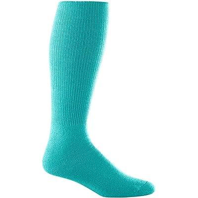Augusta Drop Ship Intermediate Athletic Socks - TEAL - 9-11