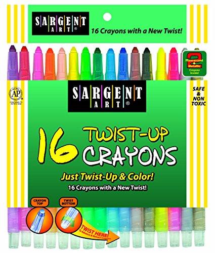 Sargent Art 55-0981 16-Count Twist-Up-Crayons]()