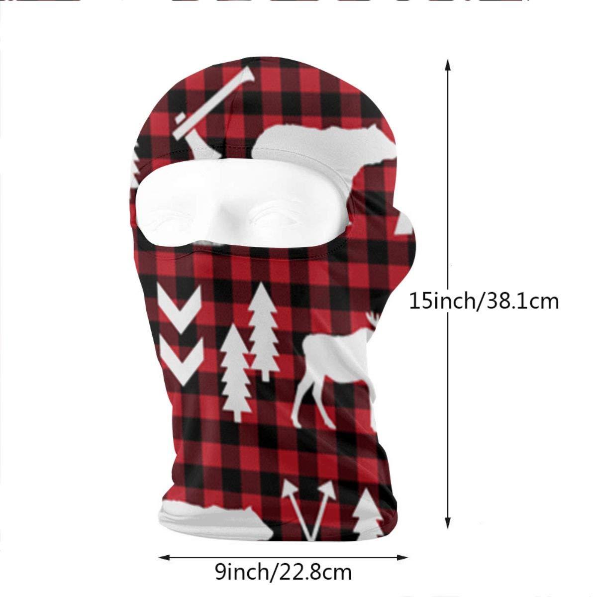 LaoJi Cartoon Red Love Winter Ski Mask Balaclava Hood Wind-Resistant Face Mask
