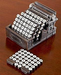 Retro Home Decor 5-Pc.Typewriter Coaster 3 Retro Iron Jacks