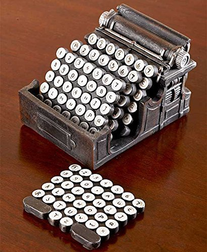 5-Pc.Typewriter Coaster Set by The Lakeside Collection GetSet2Save