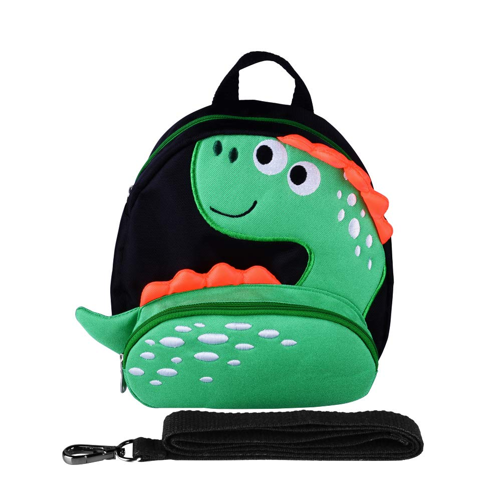 Toddler Backpack with Anti-Lost Harness Small Dinosaur Backpack Safety Leash for Boys and Girls Age 1-4 Years Old
