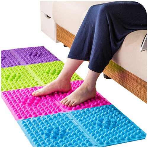 Carpets Mats & Rugs - Colorful Acupuncture Moxibustion Foot Massager Medical Therapy Mat Foot Massage Pad - Knead Matt Rub Down Tangle Lusterlessness Flat Flatness Master Arts Teaching - (Master Spas Pillow)