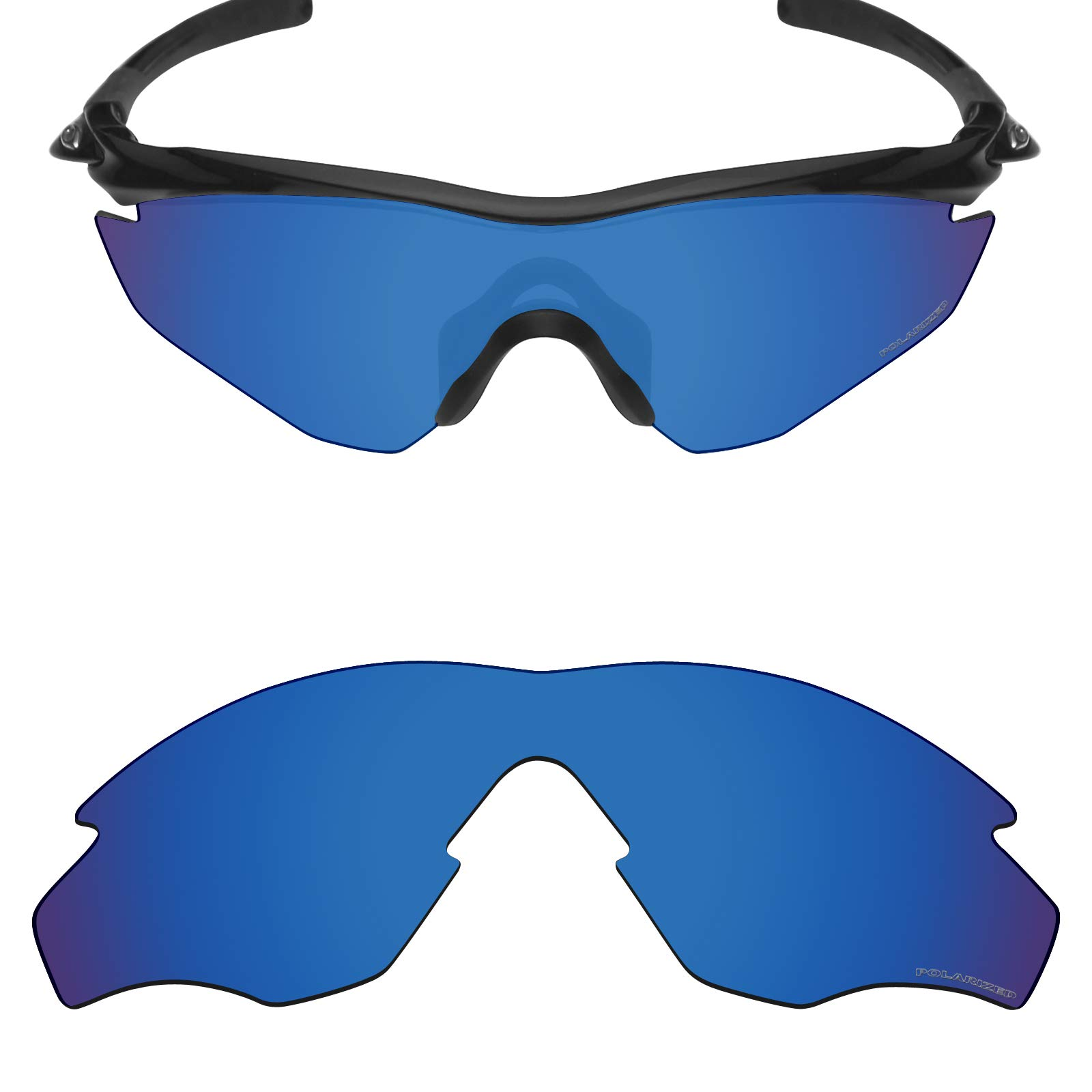 709eaf1352 Mryok+ Polarized Replacement Lenses for Oakley M2 Frame   M2 Frame XL -  Pacific Blue