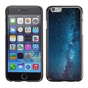 Caucho caso de Shell duro de la cubierta de accesorios de protección BY RAYDREAMMM - Apple iPhone 6 Plus 5.5 - Milky Way Galaxy Stars Sky Blue
