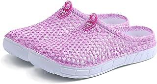 YUTUTU Zoccoli da Giardino Unisex Leggero Calzature a Rete Camminando Doccia Sandali da Spiaggia Pantofole Antiscivolo per Uomo Donna pink-39