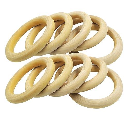 Kleine unfertige Holzringe für DIY Baby Teether Holz Teether Ringe Runde