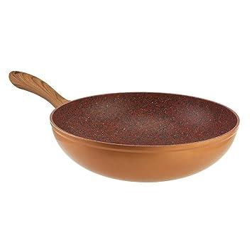 Sartenes Copper Stone de JML, 28cm, un wok en el que la