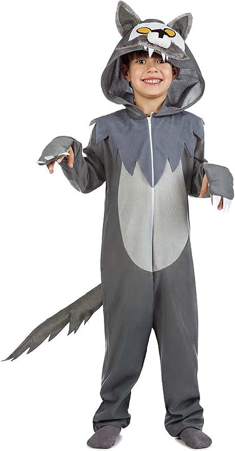 Disfraz de Lobo Infantil (5-6 años): Amazon.es: Juguetes y juegos
