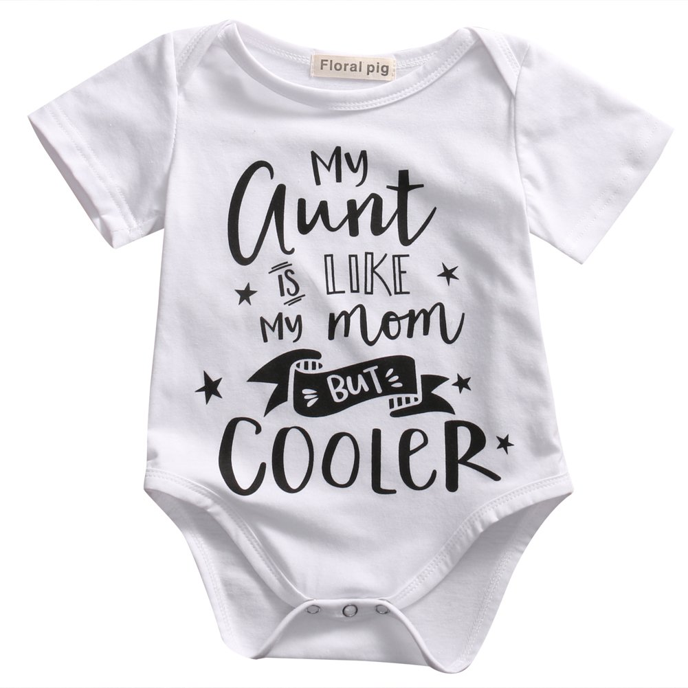 Guogo 新生児 Aunt 赤ちゃん用 3 Auntie 文字プリント 半袖 ロンパース My 幼児用 夏用衣類 B074NZCN28 My Aunt is Like My Mom But Cooler 0 - 3 Months 0 - 3 Months|My Aunt is Like My Mom But Cooler, AIMSGALLERY:365f09d9 --- itxassou.fr