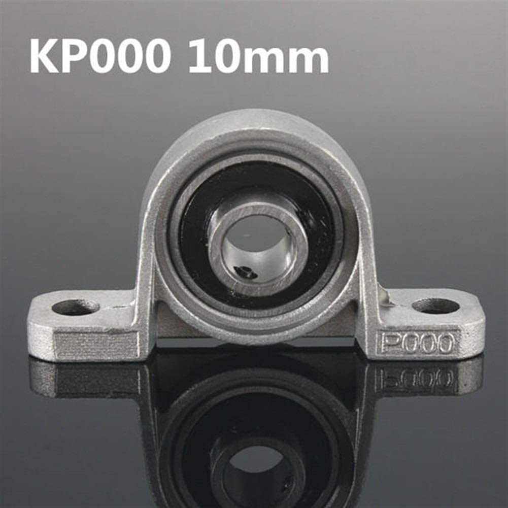 DASEXY KP Series Bore Diameter Mounted Ball Bearings Zinc Alloy Pillow Block Linear Bearing 8mm to 35mm with seat Color : #1