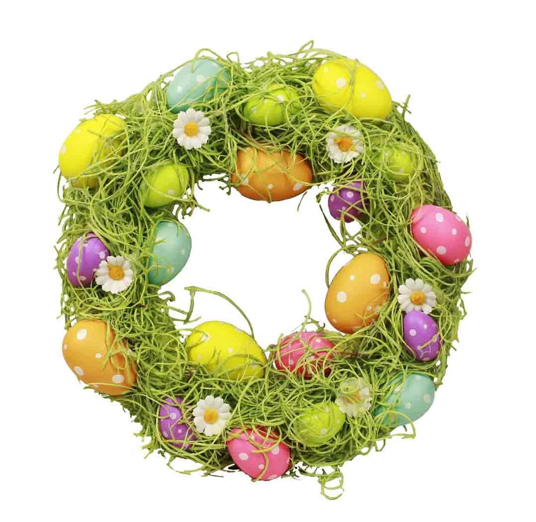 HAAC Uova Corona Uova di Pasqua Decorazione Corona porta corona Primavera Pasqua 30cm colore multicolore
